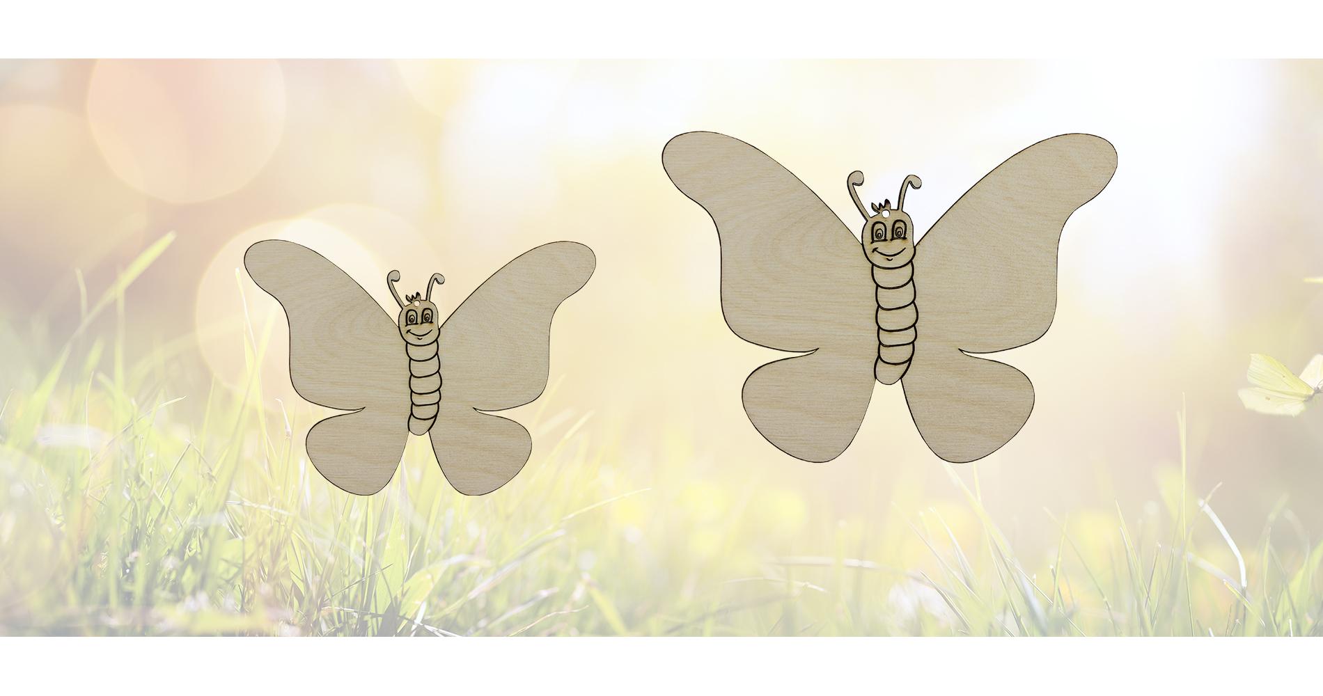 Schmetterlinge aus Birkensperrholz